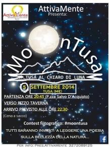 """Tusa al """"chiaro di luna"""": una passeggiata notturna per poter ammirare la bellezza della luna  e delle stelle"""