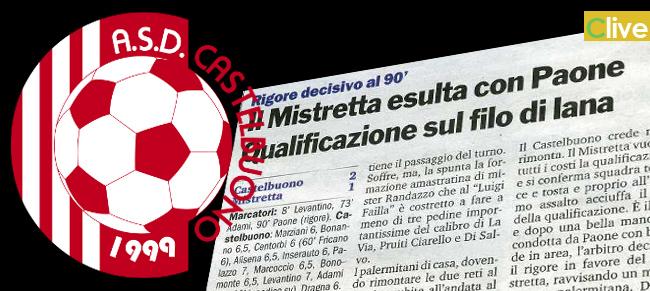 Coppa Sicilia - Promozione: all'ultimo secondo di gioco un calcio di rigore condanna uno sfortunato Castelbuono