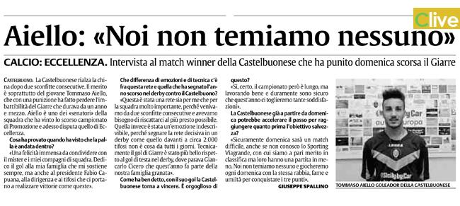 """Polisportiva Castelbuonese. Aiello: """"Noi non temiamo nessuno"""""""