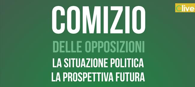 Stasera i Piazza Margherita il comizio congiunto dei gruppi consiliari di opposizione