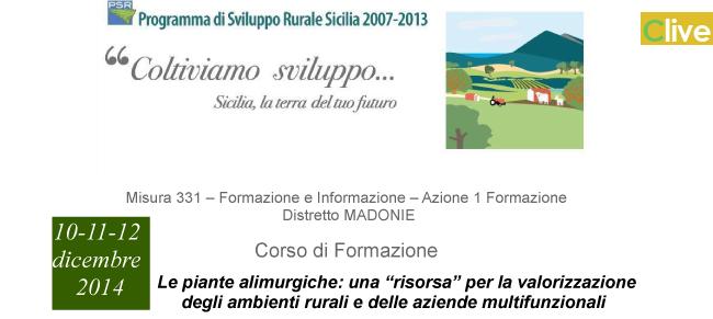"""SOAT Castelbuono: Corso sul tema """"Le piante alimurgiche: una """"risorsa"""" per la valorizzazione degli ambienti rurali e delle aziende multifunzionali"""""""