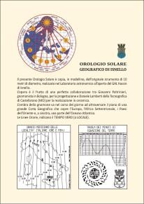 OROLOGIO SOLARE GEOGRAFICO