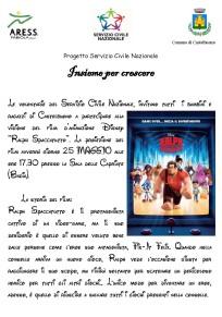 """Insieme per Crescere"""": Mercoledì 25 maggio la proiezione del film d'animazione Disney """"Ralph Spaccatutto"""""""