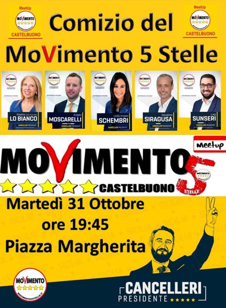 Stasera in piazza margherita comizio del movimento 5 for Movimento 5 stelle camera