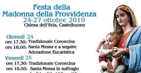 Programma della festa della Madonna della Provvidenza